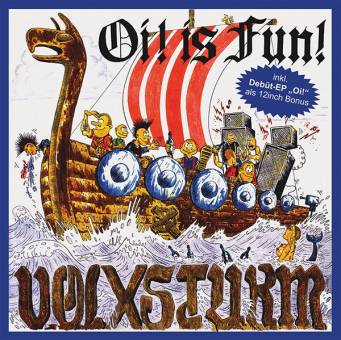 "Volxsturm ""Oi! is fun"" LP+12"" (lim. 500, blue)"