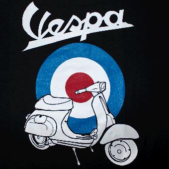 Vespa Target T Shirt Black
