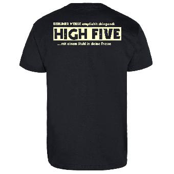 schwarz Oi Girl-T-Shirt