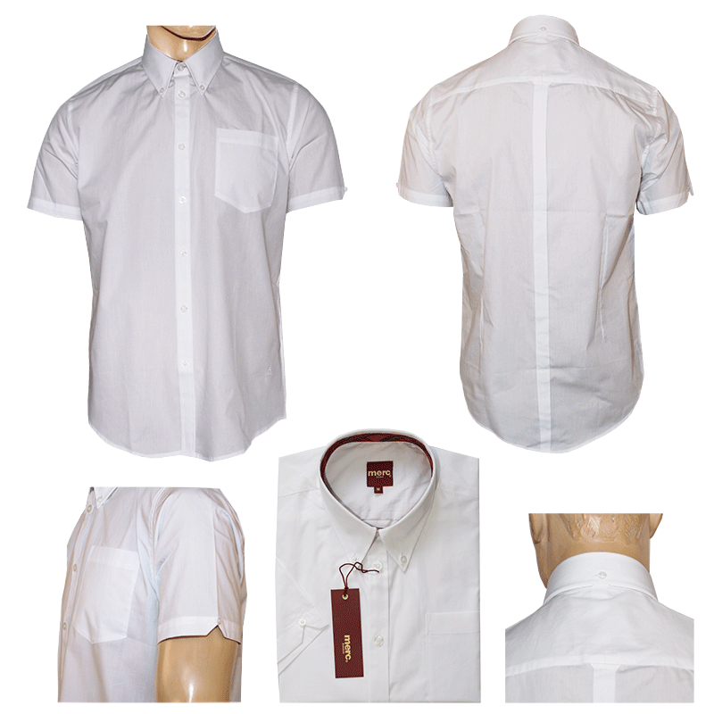 merc baxter button down hemd kurz weiss white. Black Bedroom Furniture Sets. Home Design Ideas