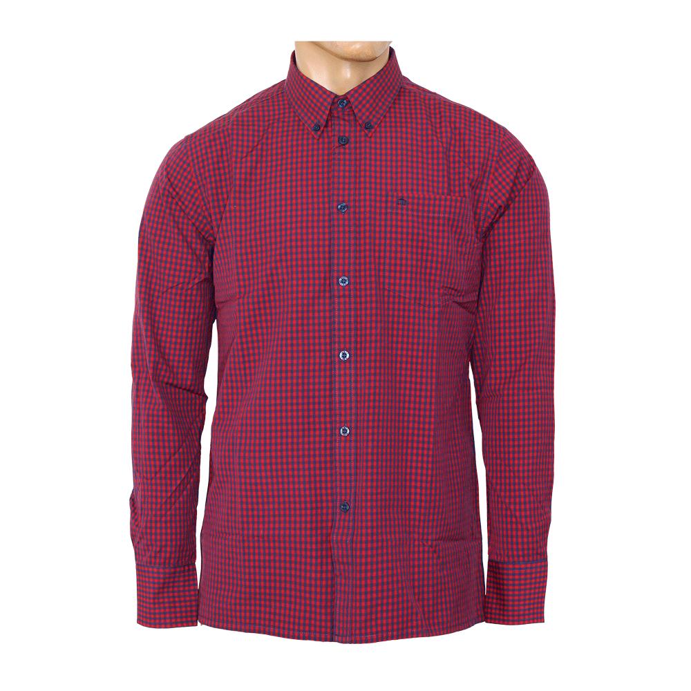 merc button down hemd japster lang red blue kaufen. Black Bedroom Furniture Sets. Home Design Ideas