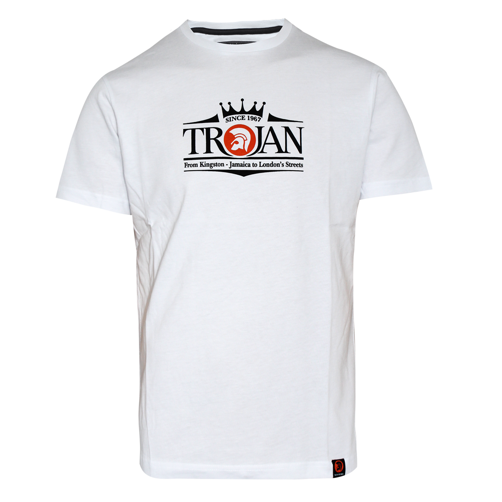trojan since 1967 t shirt weiss kaufen bei spirit of. Black Bedroom Furniture Sets. Home Design Ideas