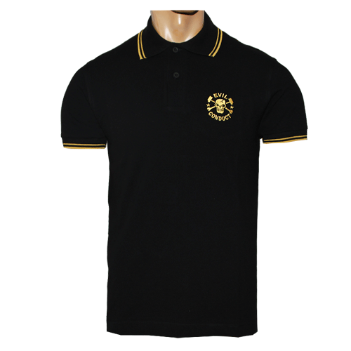 Evil Conduct Skull Polo Shirt Kaufen Bei Spirit Of The Streets