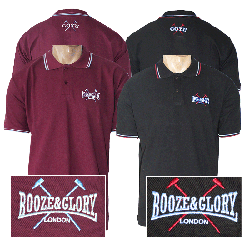 Booze glory logo polo shirt order online spirit of for Order polo shirts with logo