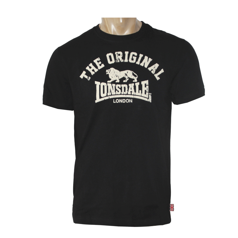 lonsdale original t shirt black order online spirit of the streets. Black Bedroom Furniture Sets. Home Design Ideas
