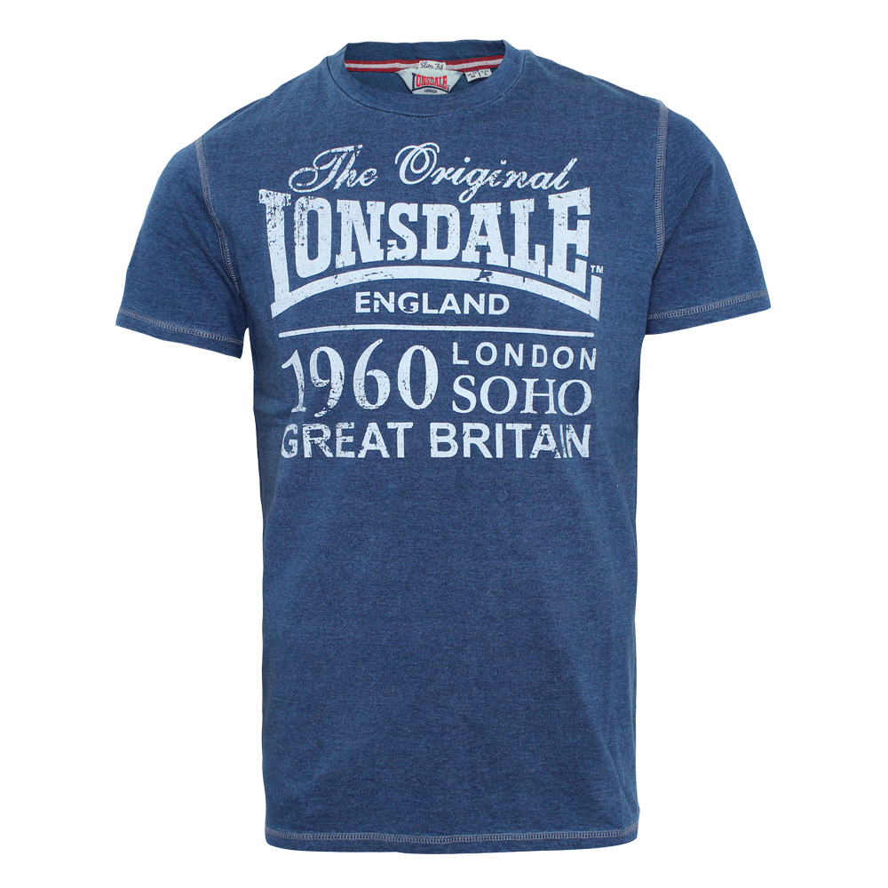 lonsdale mereworth t shirt marl navy order online. Black Bedroom Furniture Sets. Home Design Ideas