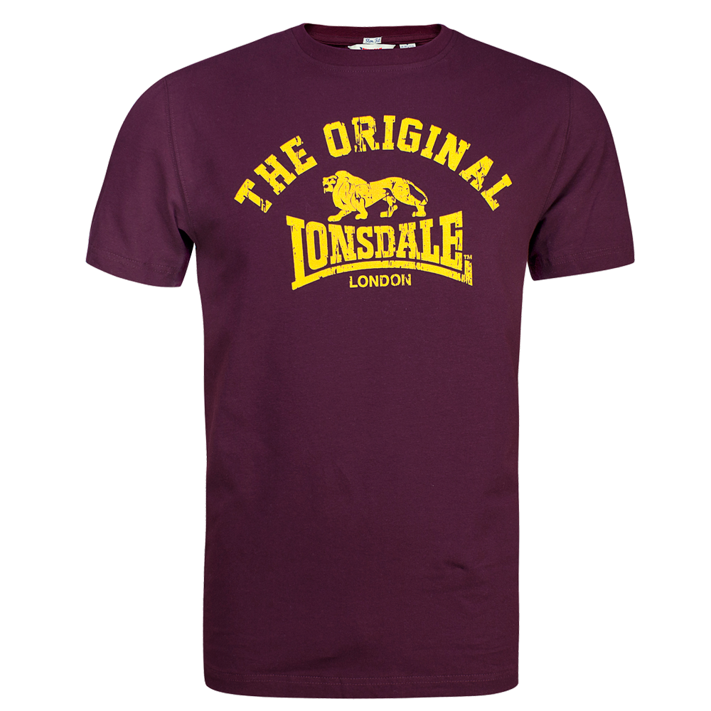 lonsdale original t shirt oxblood kaufen bei spirit of the streets. Black Bedroom Furniture Sets. Home Design Ideas