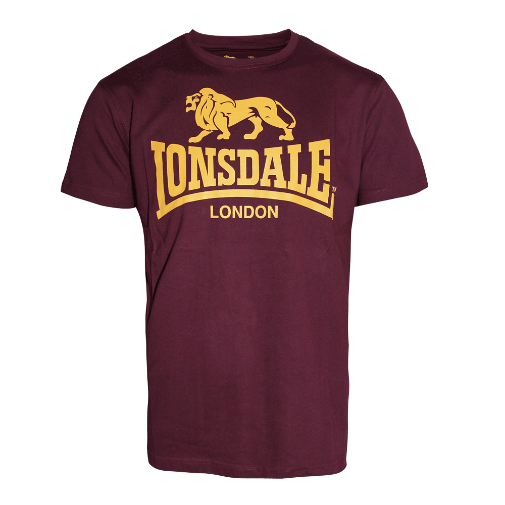lonsdale logo t shirt oxblood order online spirit. Black Bedroom Furniture Sets. Home Design Ideas