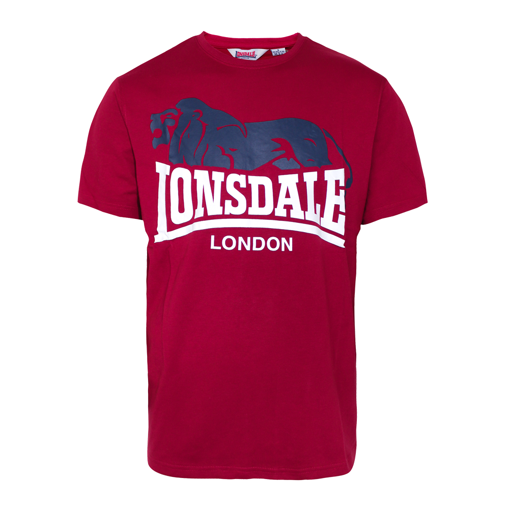 lonsdale berry head t shirt dark red order online. Black Bedroom Furniture Sets. Home Design Ideas