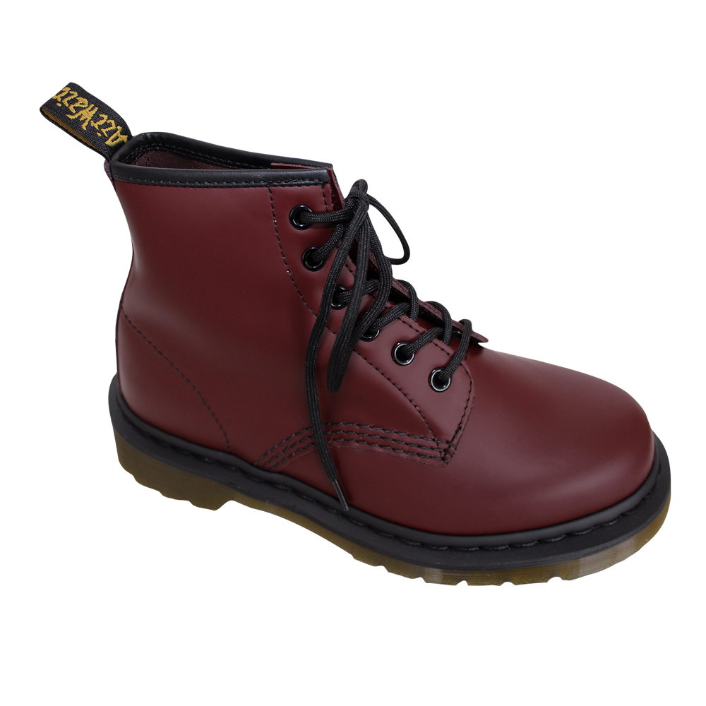 dr martens 101 smooth boot 6 loch cherry red. Black Bedroom Furniture Sets. Home Design Ideas