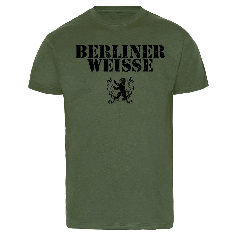 berliner weisse big logo t shirt olive kaufen bei. Black Bedroom Furniture Sets. Home Design Ideas