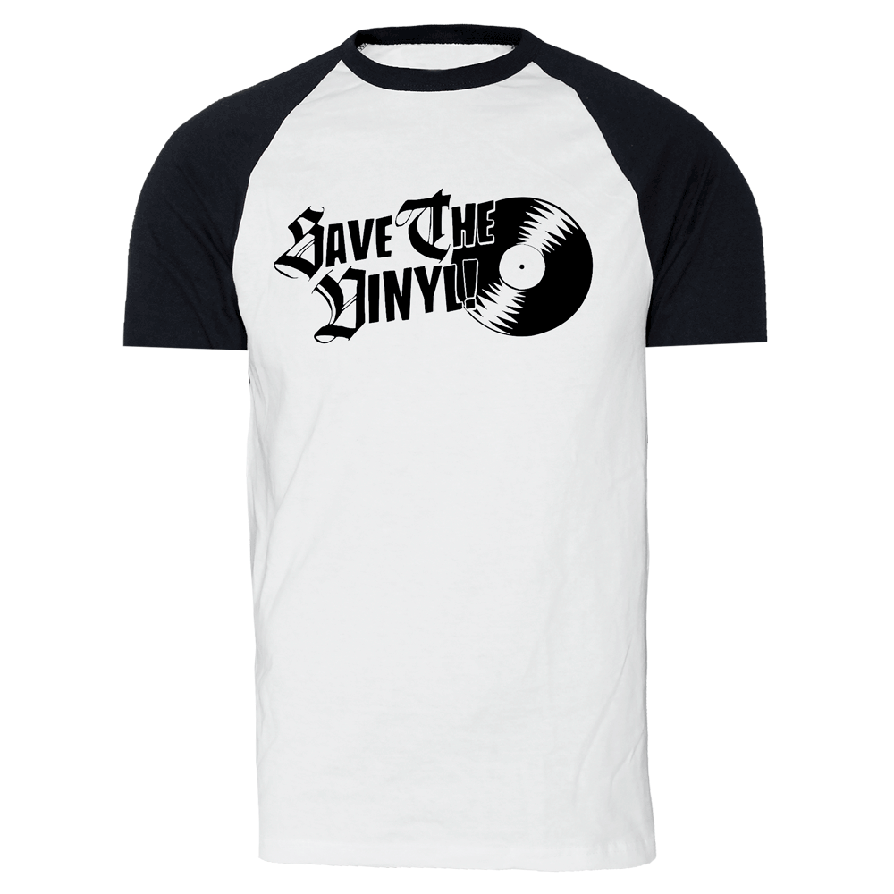 Save The Vinyl Raglan T Shirt White Black Order Online