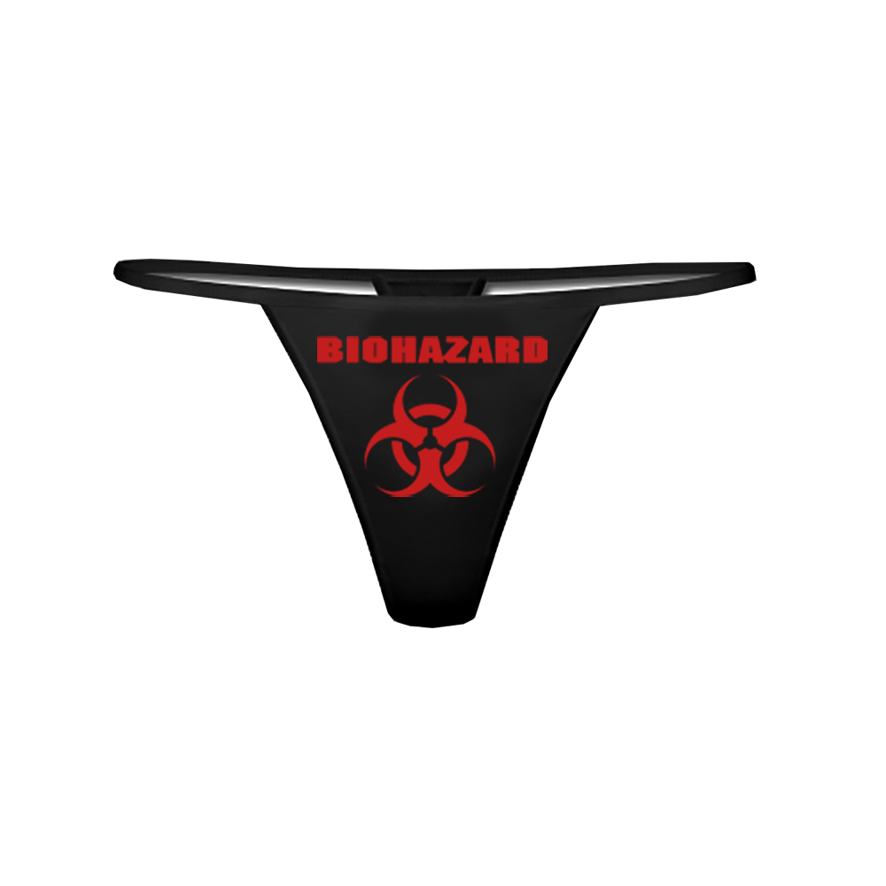 biohazard logo string tanga kaufen bei spirit of the. Black Bedroom Furniture Sets. Home Design Ideas